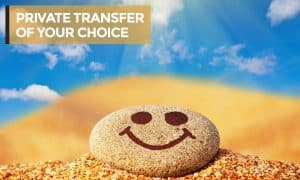 PRIVATE TRANSFER OF YOUR CHOICE with heading