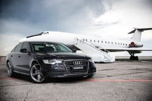audi a6 with plane 2
