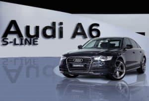 black audi A6 s-line